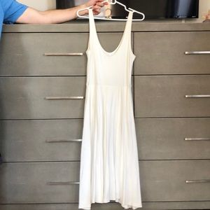 Leith white tank dress with full skirt, sz small